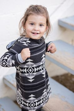 SALE 15% OFF Hooded Gray Aztec Toddler by HappyCampersShop on Etsy