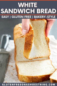 Picture the gluten free white sandwich bread you've been missing in your life, and know that the wait is over. It's that simple. This soft and tender bread bends and squishes, and has a lovely bakery-style crust. Make the most amazing gluten free sandwiches for lunch with this batter-style bread or serve as toast for breakfast. Gluten Free White Bread Recipe, Gluten Free Artisan Bread, Dairy Free Bread, Best Gluten Free Bread, Yeast Free Breads, Gluten Free Bagels, Dairy Free Recipes, Yeast Bread, Best Gluten Free Sandwich Bread Recipe