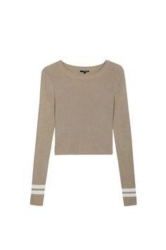 49ba7e04f9cd27 Beige Knit Crop Jumper  newin  knitcropjumper  beige  TALLYWEIJL Tally Weijl