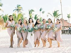 Punta Cana Wedding Coastal Wedding Centerpieces, Destination Wedding Invitations, Destination Weddings, Patterned Bridesmaid Dresses, Coastal Wedding Inspiration, Punta Cana Wedding, Black Tie Wedding, Elegant Invitations, Bridesmaids