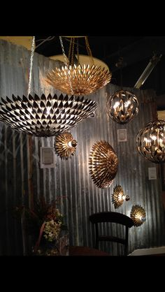 Flower power? Loving leaves? #Dallas2014lightingmarket Nature inspiration with a fashionable twist!  When you have shorter ceilings are need a WOW entrance piece, check out #Crystorama #shortfoyerlights #funflushmounts