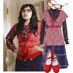 The ugly Betty style!!!, created by pettyd on Polyvore #Halloween #costume