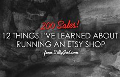 I hit an Etsy milestone a few days ago - 200 sales! I've learned an enormous amount about how to set-up my shop, promote my products and work with buyers and now I'm going to share some of the most...