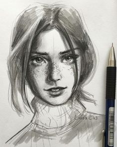 1433 Likes 75 Comments laura catrinella (Laura Catrinella Wijaya) on Instagr Portrait Sketches, Pencil Portrait, Portrait Art, Portraits, Pencil Art Drawings, Cool Drawings, Drawing Sketches, Sketching, Sketches Of People