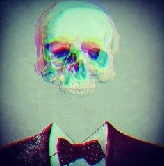 Skeleton // Grunge // strange // weird // different // dead // suit // formal // Trippy // alternative // bow tie // shrooms