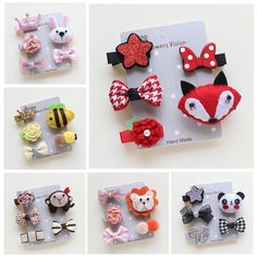 5pcs/Set Cute Pet Hairpin Set Cartoon Bows Hairpins  Hair Clips For Dogs Teddy Yorkshire Pet Grooming Accessories // Worldwide FREE Shipping //     #dogs