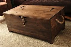 Rustic Wooden Chest,Trunk, Blanket Box ,Vintage Coffee Table in Home, Furniture & DIY, Furniture, Tables | eBay!