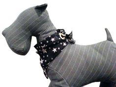 Dog Bandana  Navy & White Stars  by Urban Olive , via Etsy.