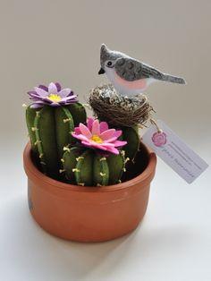 keçe çiçek ve kuş