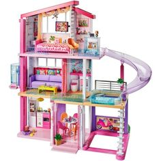 Barbie Store It All Case! A durable storage case designed to fit in your closet or roll in the house! The main compartment of the case stores over 20 Barbie dolls, fashions, playset accessories and more! Dreamhouse Barbie, Barbie Doll House, Barbie Dream House, Barbie Dolls, Mattel Barbie, Pink Barbie, Big Doll House, Barbie Room, Table Flip