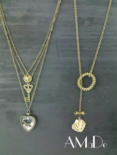 Beautiful bronze necklaces, perfect for Mother's Day... perfect to wear with any outfit -  www.Facebook.com/amadeaccessories