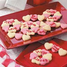 Heartthrob Cookies Recipe from Taste of Home #Valentines