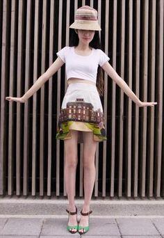 FABITORIA 2013SS digital printed skirt - Reverse manor