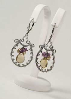 Wire wrapped earrings