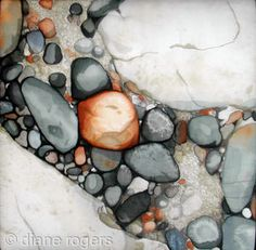 Golden Rock pool by Diane Rogers, Hand painted silk embroidery Silk Painting, Artist Painting, A Level Art Themes, Ocean Drawing, Ocean Projects, Acrylic Painting Techniques, Rock Pools, Stone Crafts, Textile Artists