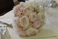 Bridal Bouquet of Pink Peonies & Roses