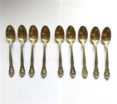 Gorham Chantilly Sterling Demitasse Spoon 9pc Set. Available @ hamptonauction.com for the May 18, 2014 auction!