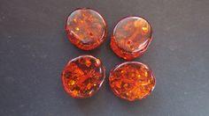 4 perles Ambre AB 19x16x7mm par lepetitmagaz sur Etsy