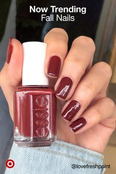 101 popular fall nail colors for page 14 Cute Acrylic Nails, Cute Nails, Pretty Nails, Bb Beauty, Beauty Nails, Fall Nail Colors, Nail Polish Colors, Nail Polishes, Hair And Nails