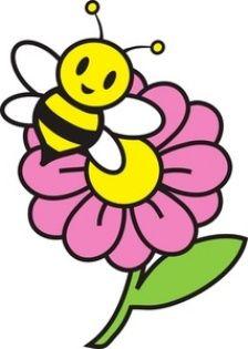 Gambar Bunga Kartun Dengan Lebah