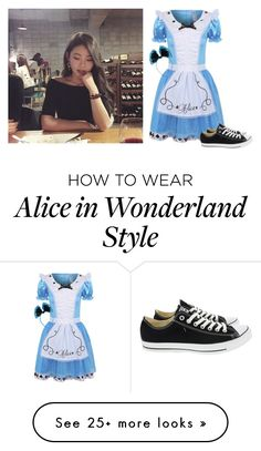 """--= Nan in Wonderland =--"" by pizza-bxtch on Polyvore featuring George and Converse"