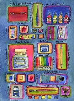 art supplies make me happy by kaepea, via Flickr