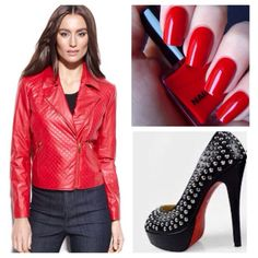 3xHP Ellen Tracy Quilted Faux-leather Red Moto Add this sizzling red jacket into your wardrobe to instantly turn up the heat on your edgy style. Ellen tracy's moto-inspired stunner features quilted faux-leather and zipper accents that elevate. Faux leather: polyester; lining: polyester. Hand wash. Imported. Notched collar. Asymmetrical front zipper closure. Long sleeves. Zip pockets at sides. Fitted. Lined. Hits at low waist; approx. 21-1/2 inches long. ❌FIRM PRICE Downtown Romantic HP…