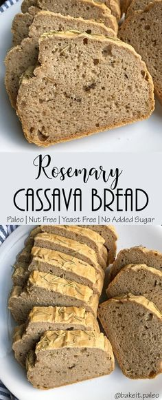 Paleo Yeast Free Nut Free Rosemary Cassava Bread You are in the right place about Paleo basics Here we offer you the most beautiful pictures about the Paleo mayo you are looking for. When you examine the Paleo Yeast Free Nut Free Rosemary Cassava Bread … Cassava Recipe, Cassava Flour Recipes, Recipe Ghee, Yeast Free Breads, Grain Free Bread, Paleo Yeast Bread, Bread Without Yeast, Paleo Breakfast Bread Recipe, Gluten Free Whole Grain Bread Recipe