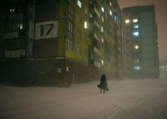 Norilsk, an industrial city in Russia, located above the Arctic Circle : Cyberpunk Nocturne, Cyberpunk, Dark Tales, Christophe Jacrot, Look Dark, Arctic Circle, Our Lady, Cinematography, Female Art