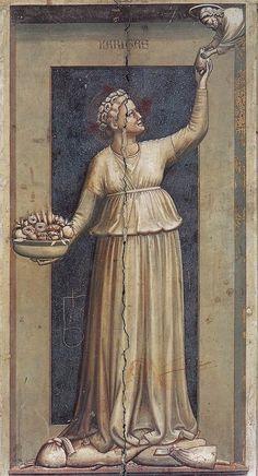 Offspring Of Mama's Beauty: Giotto's 7 Virtues, Charity Italian Painters, Italian Artist, Italian Renaissance, Renaissance Art, Web Gallery Of Art, Galerie D'art En Ligne, Hieronymus Bosch, Ouvrages D'art, Medieval Art