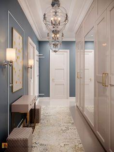 Home Room Design, Living Room Designs, Home Entrance Decor, Home Decor, Flur Design, Bedroom Design Inspiration, Hallway Designs, Classic Interior, Creative Home