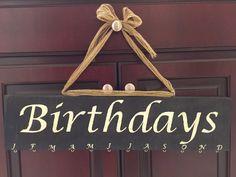 Birthday Board Handpainted by DestinyByDesign12 on Etsy