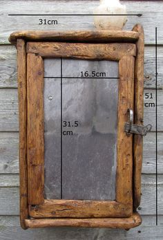 cabinet with slate door in recycled timber by yorkart on etsy