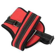 Canvas Comfortable Dog cat Chest Set Harness Belt Leisure Sponge Canvas Harness Heavy Duty For Sports Training^Red.L * Check out this great image  : Cat Repellent and Training Aid