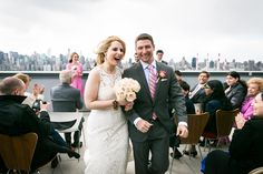Rooftop wedding ceremony by NYC wedding photojournalist, Kelly Williams  Find out more about this real-life 90-day fiancé here: http://blog.kellywilliamsphotographer.com/real-life-90-day-fiance/  #WeddingPhotography #RealWeddings