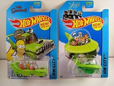 2014 Hot Wheels Hw City - The Simpsons The Homer & The Jetsons Capsule Car - Lot of 2! @ niftywarehouse.com #NiftyWarehouse #TV #Shows #TheSimpsons #Simpsons