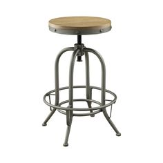 Item #: 122098 www.ashleydeals.com/black-bar-stool-coaster-122098.html #Antique #Black #Adjustable #Barstool #Distressed #Wood #Seat #Coaster #Furniture #Business #Online