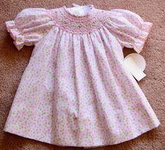 Infant Baby Girl Edgehill Collection Smocked Polka-Dot Bishop Dress NWT 3m #EdgehillCollection #Bishop #PartyDressyChurchPortraitsBirthday