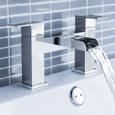 Modern Waterfall Monobloc Bath Filler Mixer Tap