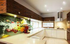 Imagini pentru sticla printata Kitchen Cabinets, Interior Ideas, Table, Furniture, Home Decor, Decoration Home, Room Decor, Cabinets, Tables