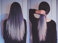 Image via We Heart It #beautiful #classy #cool #dark #goth #gothic #grey #grunge #hair #hairstyle #hippie #indie #longhair #luna #ponytail #Prom #straighthair #woman #hermosa #balayage #blackismyhappycolor