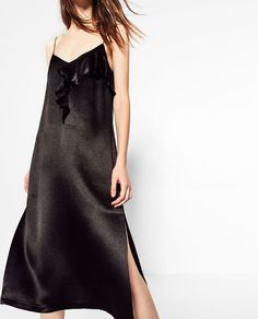ZARA - WOMAN - STRAPPY DRESS WITH FRILL