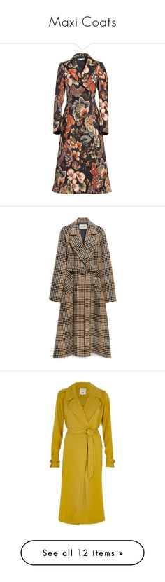 """Maxi Coats"" by fashionistalooks ❤ liked on Polyvore featuring outerwear, coats, double breasted long coat, long length coats, long coat, vintage coats, brown double breasted coat, grey, asymmetrical coat and wool wrap coats"