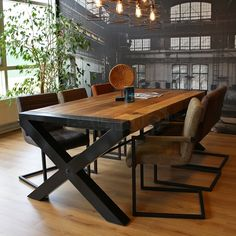 Industriële eetkamertafel Alagos mangohout 220 x 100 Industriële eetkamertafel Alagos mangohout 220 x 100 - Gratis thuisbezorgd! Building A House, Dining Table, House Styles, Interior, Furnitures, Home Decor, Buildings, Nature, Products