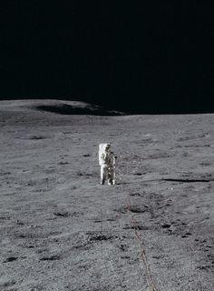 TDIH: Apollo 14 astronaut Ed Mitchell on the Moon, February 5, 1971.