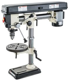 Price: $350 34-in. benchtop drill press 5 amps • Five speeds  • High speed: 3,470 rpm  • Low speed: 550 rpm   - PopularMechanics.com