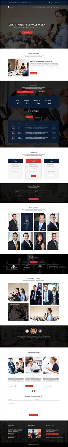 Event is a clean, modern and professional #PSD Template for #webdesign Event and #conference websites download now➩ https://themeforest.net/item/event-an-event-and-conference-psd-template/19208367?ref=Datasata