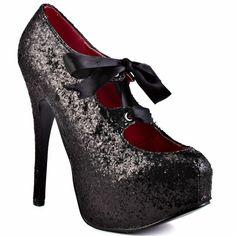 High Heels... Viva Bordello    Sin City - Black Glitter