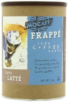MOCAFE Frappe Caffe Latte, Ice Blended Coffee, 3-Pound Tin - http://teacoffeestore.com/mocafe-frappe-caffe-latte-ice-blended-coffee-3-pound-tin/