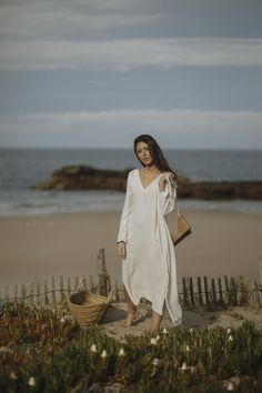 Escape Essential: the ultimate tunic is the definitive piece for high summer style.  A mid-long tunic with a bold (but elegant) cleavage, VALE DO LOBO is the perfect choice for every day beach (or pool) day. Pool Days, Espadrilles, White Dress, Tunic, Elegant, Collection, Beach, Dresses, Summer